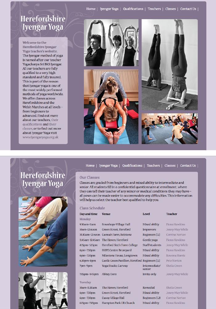 Herefordshire Iyengar yoga website