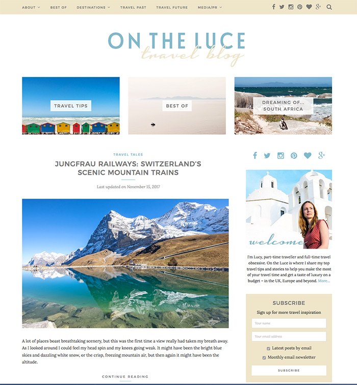 On the Luce travel blog